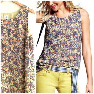 CAbi   Positano Sleeveless Floral Top XL